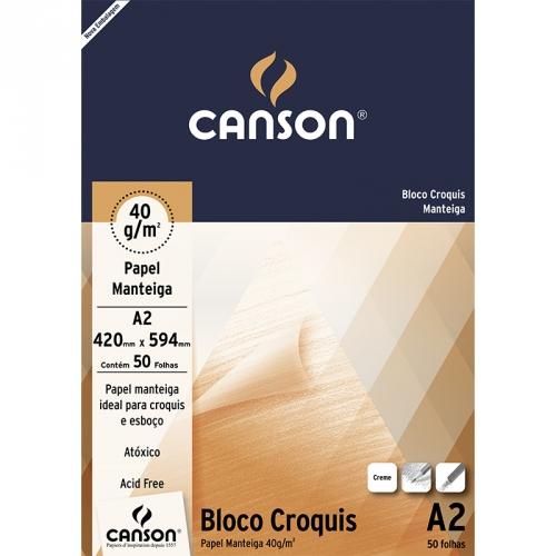 PAPEL CROQUIS A2 40G 50FLS CANSON