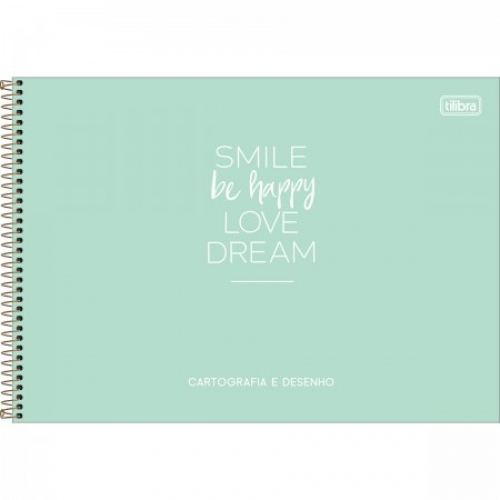 CADERNO CARTOGRAFIA CD 80FLS TILIBRA HAPPY
