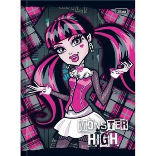 CADERNO BROCHURA 1/4 CF 96FLS TILIBRA MONSTER HIGH