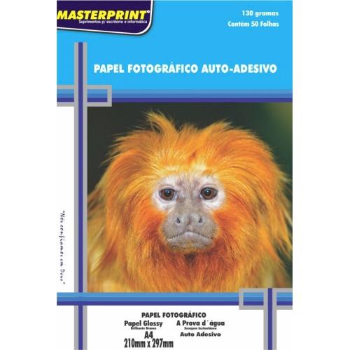 PAPEL FOTO ADESIVO A4 130G 20FLS MASTERPRINT