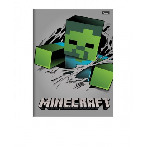 CADERNO BROCHURA CD 48FLS FORONI MINECRAFT