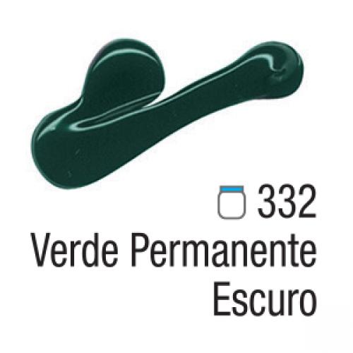 TINTA TELA ACRILICA ACRILEX 20ML VERDE PERMANENTE ESCURO 332