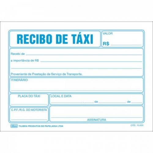 RECIBO DE TAXI 50FLS TILIBRA