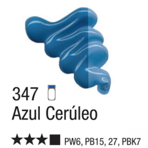 TINTA TELA OLEO ACRILEX 20ML AZUL CERULEO 347