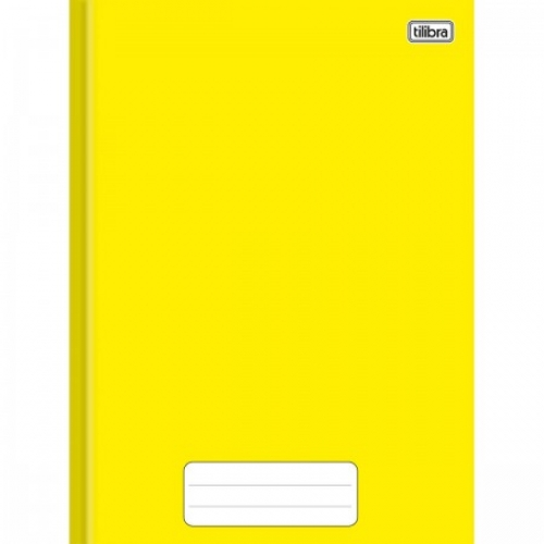 CADERNO BROCHURA 1/4 CD 80FLS TILIBRA PEPPER AMARELO
