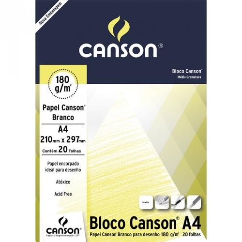 PAPEL DESENHO BRANCO A4 180G 20FLS CANSON