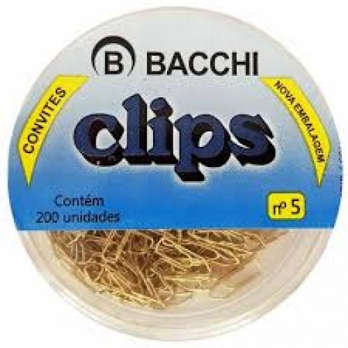 CLIPS DOURADO 5 CAIXA 200UNDS BACCHI