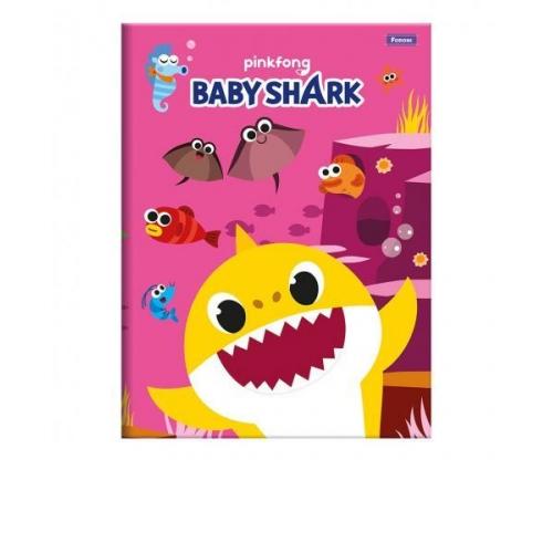 CADERNO BROCHURA 1/4 CD 96FLS FORONI BABY SHARK