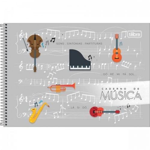CADERNO PED ESPIRAL 1/4 MUSICA CD 80FLS TILIBRA