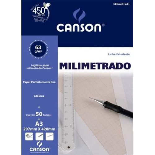 PAPEL MILIMETRADO A3 63G CANSON ESTUDANTE