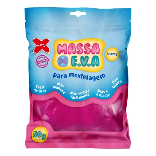 MASSA DE EVA MAKE + 50G PINK