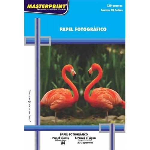 PAPEL FOTO A4 230G 20FLS MASTERPRINT