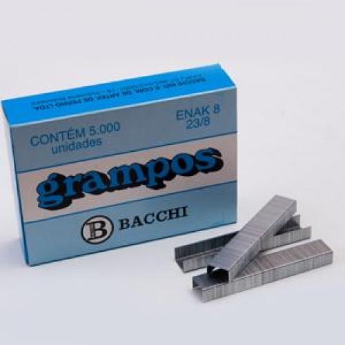 GRAMPO BACCHI 23/8 GALVANIZADO 5000UNDS