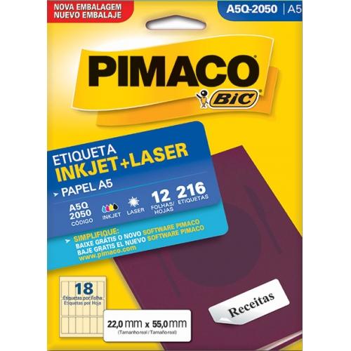 ETIQUETA A5 12FLS PIMACO A5Q-2050