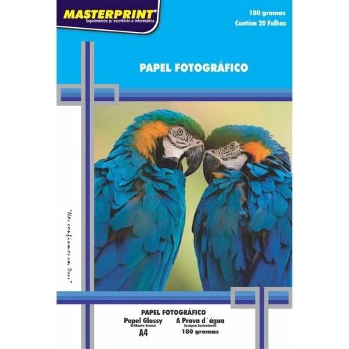 PAPEL FOTO A4 180G 20FLS MASTEPRINT