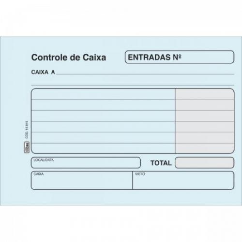 FICHA CONTROLE DE CAIXA - ENTRADA AZUL 100FLS TILIBRA