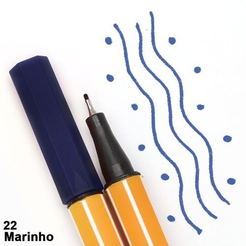 CANETA STABILO POINT 88/22 AZUL MARINHO