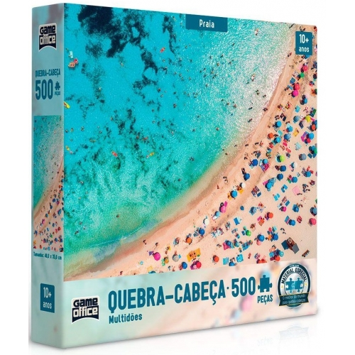 Quebra-Cabe�a Multid�es Praia 500 Pe�as - Game Office