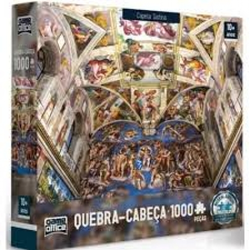 Quebra-Cabe�a Capela Sistina 1000 Pe�as - Game Office