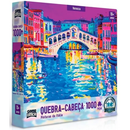 Quebra-Cabe�a Veneza 1000 Pe�as - Game Office