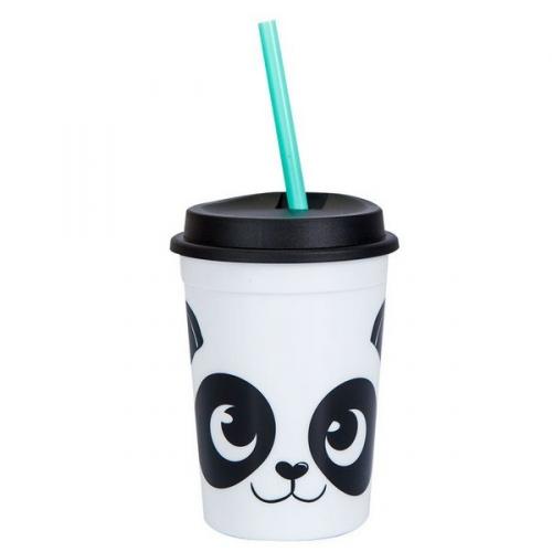 MINI COPO POP COM CANUDO - PANDA