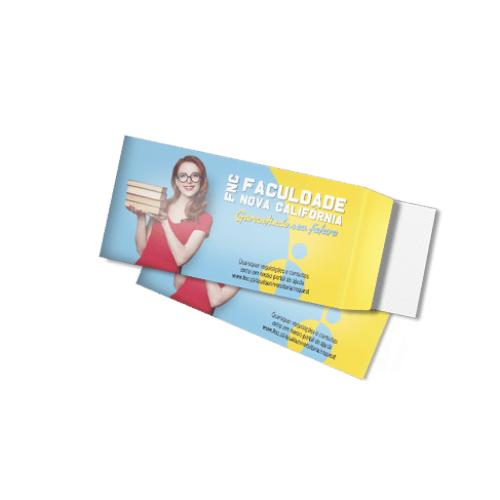 10 Envelopes 11,3x23cm - Aba Lateral - Sulfite 90g - 4x0 cor
