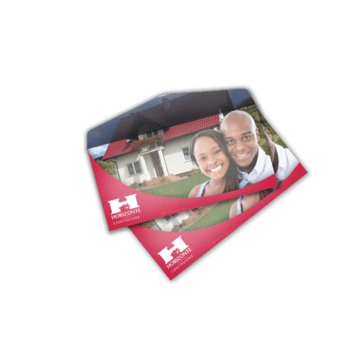 10 Envelopes 11,3x23cm - Carta - Sulfite 90g - 4x0 cor
